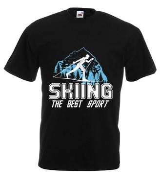 Narciarstwo moim sportem - Koszulka z nadrukiem - Sport - Męska