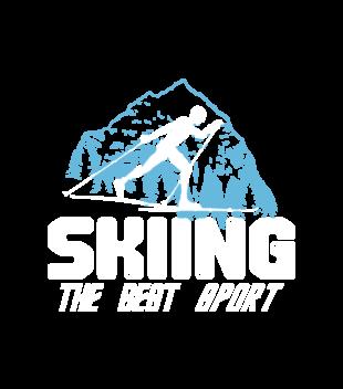 Narciarstwo moim sportem grafika na koszulke meska 366