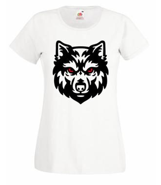 Poczuj w sobie siłę wilka - Koszulka z nadrukiem - Sport - Damska