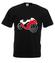 Na szybkim scigaczu koszulka z nadrukiem sport mezczyzna werprint 402 1