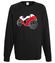 Na szybkim scigaczu bluza z nadrukiem sport mezczyzna werprint 402 107