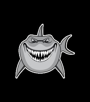 Atak rekina grafika na koszulke dziecieca 408