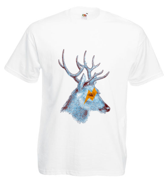 Edzio jeleń - Koszulka z nadrukiem - Zwierzęta - Męska