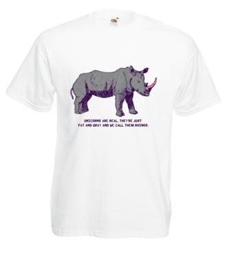 Jednorożce istnieją! - Koszulka z nadrukiem - Zwierzęta - Męska