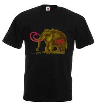 Czy ktoś widział mamuta? - Koszulka z nadrukiem - Zwierzęta - Męska