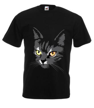 Koszulkowy kitty kat - Koszulka z nadrukiem - Zwierzęta - Męska