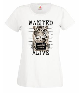 Ciągle poszukiwany – żywy! - Koszulka z nadrukiem - Zwierzęta - Damska