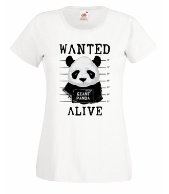 Poszukiwana panda - Koszulka z nadrukiem - Zwierzęta - Damska