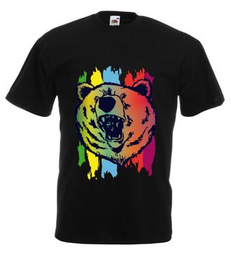 Z mocą niedźwiedzia - Koszulka z nadrukiem - Zwierzęta - Męska
