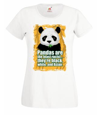 Wielorasowa panda - Koszulka z nadrukiem - Zwierzęta - Damska