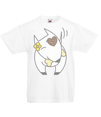 Pitbull o miłym usposobieniu - Koszulka z nadrukiem - Zwierzęta - Dziecięca