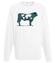 Na krowie sie nie miesci bluza z nadrukiem zwierzeta mezczyzna werprint 427 106