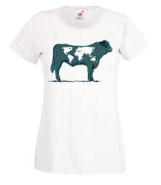 Na krowie się nie mieści - Koszulka z nadrukiem - Zwierzęta - Damska
