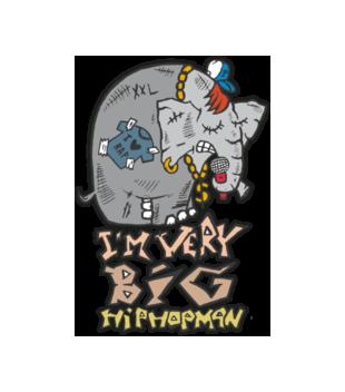 Slon w hip hop skladzie grafika na koszulke damska 89