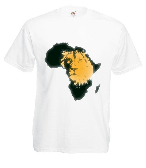 Kraina wielkiego lwa koszulka z nadrukiem zwierzeta mezczyzna werprint 428 2