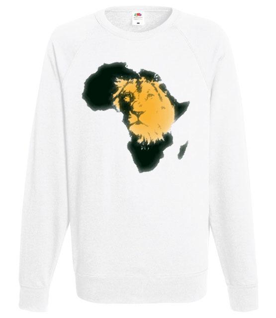 Kraina wielkiego lwa bluza z nadrukiem zwierzeta mezczyzna werprint 428 106