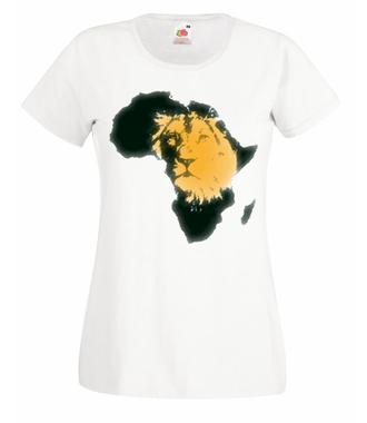 Kraina wielkiego lwa - Koszulka z nadrukiem - Zwierzęta - Damska