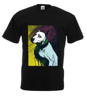 Magia psiego spojrzenia - Koszulka z nadrukiem - Zwierzęta - Męska