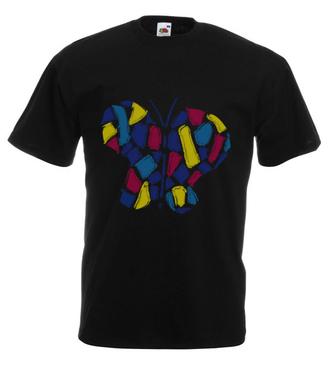 Motylem jestem - Koszulka z nadrukiem - Zwierzęta - Męska