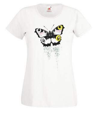 Motyla klasyka. Magia skrzydeł. - Koszulka z nadrukiem - Zwierzęta - Damska
