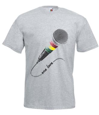 Jedna miłość, jeden dźwięk. - Koszulka z nadrukiem - Muzyka - Męska
