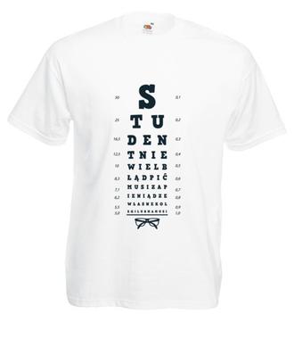 Student nie wielbłąd... - Koszulka z nadrukiem - Szkoła - Męska