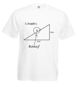 Matematyka - królowa nauk. - Koszulka z nadrukiem - Szkoła - Męska