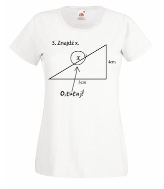 Matematyka - królowa nauk. - Koszulka z nadrukiem - Szkoła - Damska