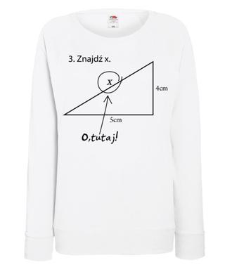 Matematyka - królowa nauk. - Bluza z nadrukiem - Szkoła - Damska