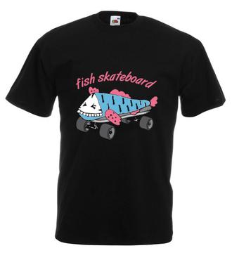 Skate na rybę - Koszulka z nadrukiem - Skate - Męska