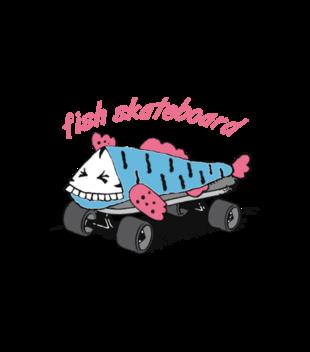 Skate na rybe grafika na koszulke dziecieca 447