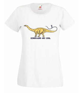 Dinozaury są cool - Koszulka z nadrukiem - Skate - Damska