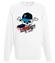 Destrukcyjny skateboarding bluza z nadrukiem skate mezczyzna werprint 452 106