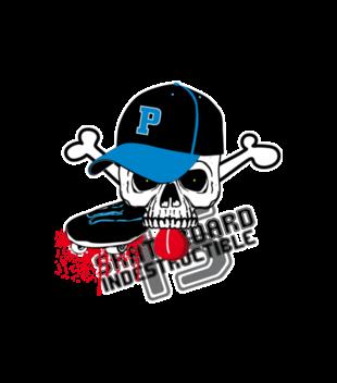 Destrukcyjny skateboarding grafika na koszulke dziecieca 452