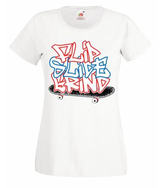 Deska - mój żywioł - Koszulka z nadrukiem - Skate - Damska