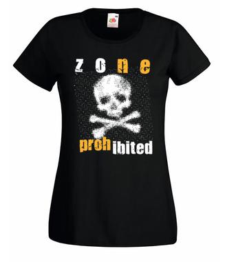 Wstęp wzbroniony - Koszulka z nadrukiem - Skate - Damska
