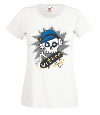 Skejciarska subkultura - Koszulka z nadrukiem - Skate - Damska
