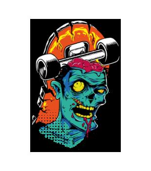 Zombie na streecie grafika na koszulke dziecieca 467