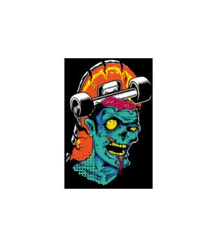 Zombie na streecie grafika na poduszke 467