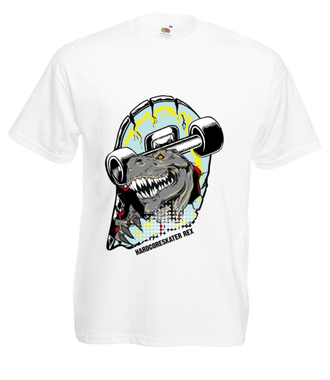 Tyranozaur skejtu - Koszulka z nadrukiem - Skate - Męska