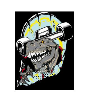 Tyranozaur skejtu grafika na koszulke dziecieca 468