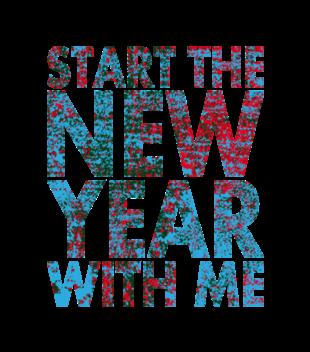 Rozpocznij nowy rok ze mna grafika na koszulke meska 469
