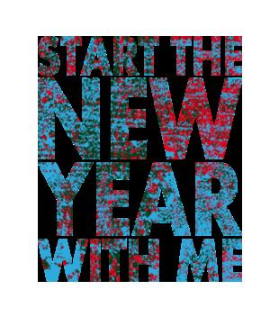 Rozpocznij nowy rok ze mna grafika na koszulke damska 469
