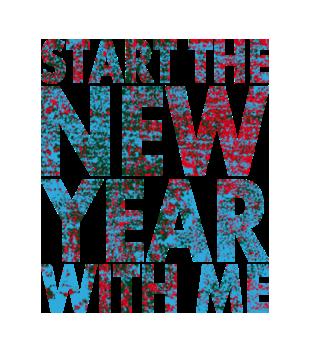 Rozpocznij nowy rok ze mna grafika na bluze damska 469