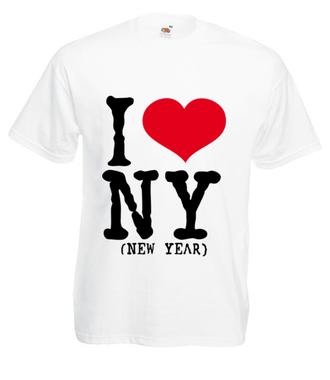 Kocham Nowy Rok - Koszulka z nadrukiem - Świąteczne - Męska