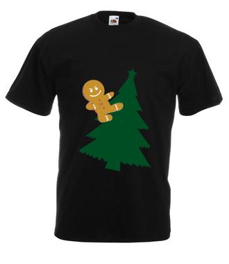 Jazda bez trzymanki - Koszulka z nadrukiem - Świąteczne - Męska
