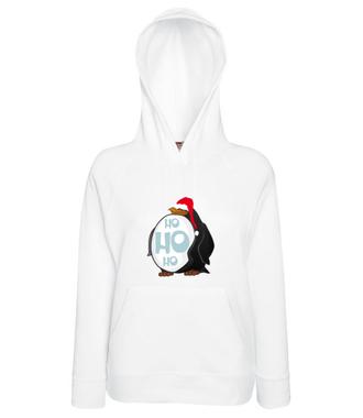 Ho, Ho, ho - Bluza z nadrukiem - Świąteczne - Damska z kapturem