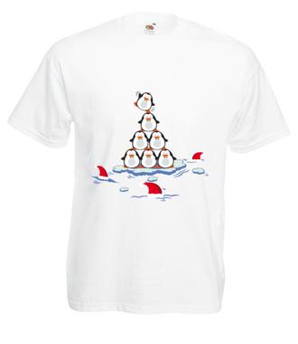 Pingwinem być - Koszulka z nadrukiem - Świąteczne - Męska