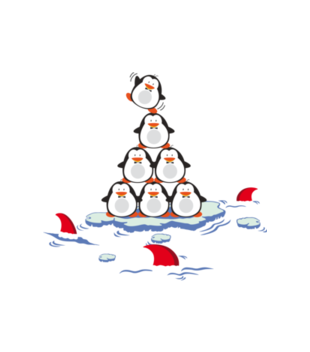 Pingwinem byc grafika na koszulke meska 477
