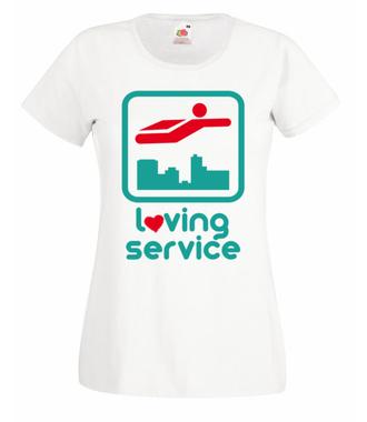 Miłość nie wybiera - Koszulka z nadrukiem - Świąteczne - Damska